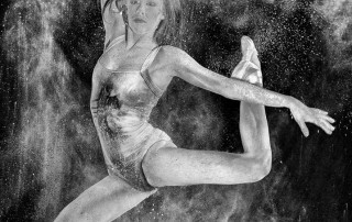 Black and white photograph of a Dust Dancer