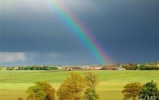 A rainbow in full colour