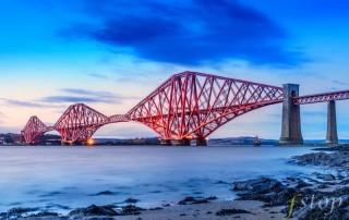 Forth Rail Bridge shot on a mirrorless digital camera