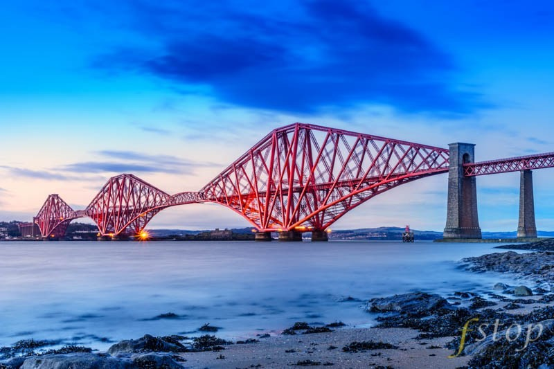 Forth Rail Bridge shot on a mirrorless digital camera
