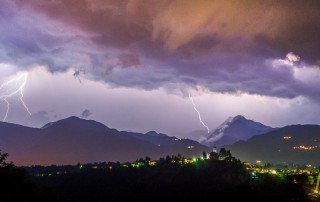 Lightning Storm Over Tuscany