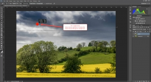 Remove Power Lines in Photoshop