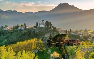Sunset over Barga, Tuscany
