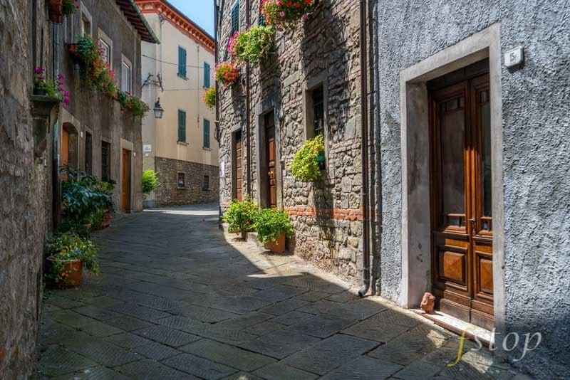 Narrow street in Tuscany