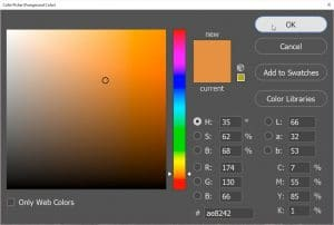 Color Picker dialogue