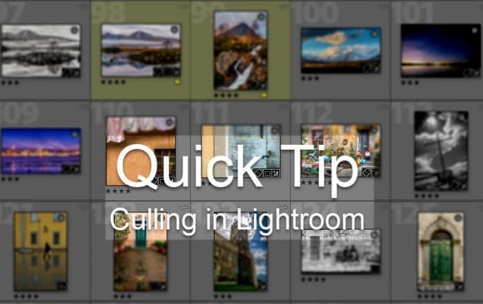 Culling in Lightroom Quick Tip