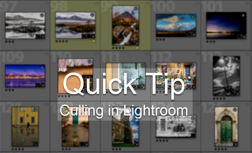 Culling in Lightroom Quick Tip