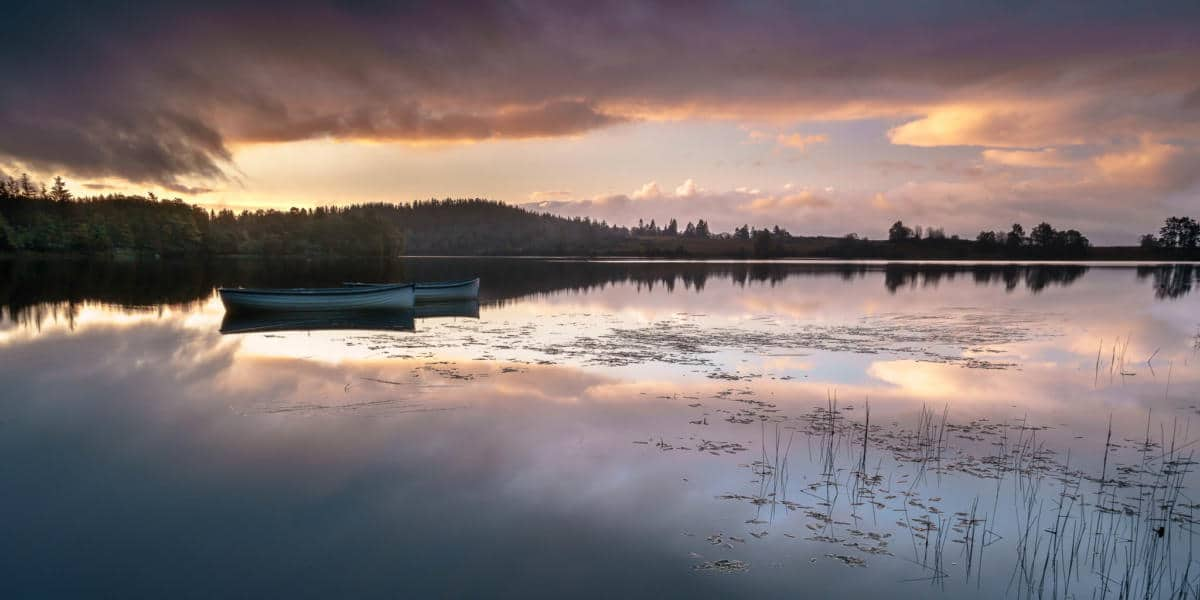 The Difference Between Saturation and Vibrance - An image of Loch Rusky in Scotland