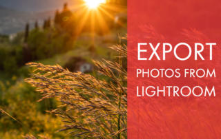 Export Photos from Lightroom