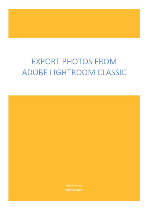 Export photographs from Lightroom eBook