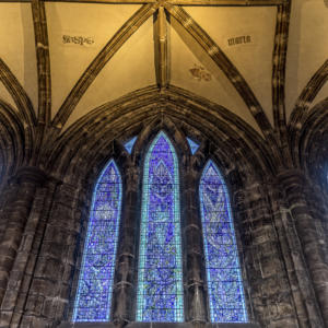 HDR Images in Lightroom of Glasgow Cathedral