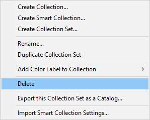 Right-click delete menu item