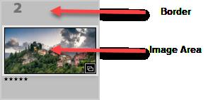 Thumbnail Image Area vs Border