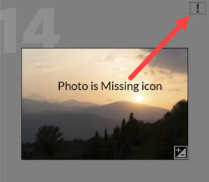 Moving Lightroom Classic to a new computer Photo is Missing icon